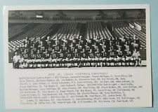 """1970 ST LOUIS Football CARDINALS 5"""" x 7"""" TEAM PHOTO Big Red - Signed Mike LaHood"""