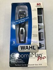 WAHL Groomsmen Pro MUSTACHE & BEARD Grooming Kit 9855-300 OPEN BOX