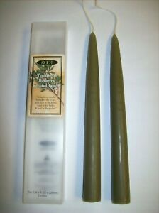 Traditional Bayberry Scented Taper Candles (Set of 2 - 9 inch x 7/8 in) by Root