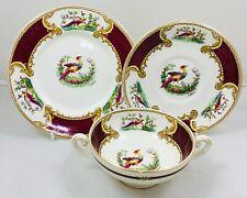More details for myott - phoenix chelsea bird - a. roberts - soup bowl, saucer, salad plate
