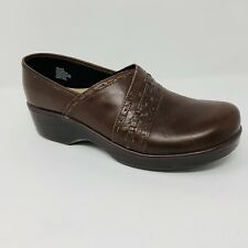Abeo Femi Women's Clog Size 9 Neutral Brown Leather Slip Resistant Nursing Shoes