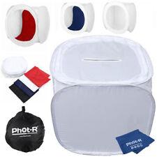 Phot-R Portable Light Tent Softbox Cube 90cm Coloured Backdrops Microfibre Cloth