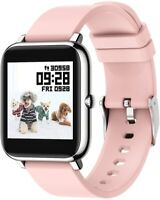 """Smart Watch Fitness Tracker Heart Rate Monitor Activity Tracker 1.3"""" (Pink)"""