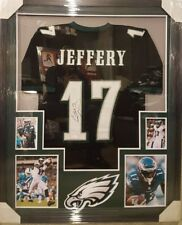 ALSHON JEFFERY AUTOGRAPHED PHILADELPHIA EAGLES FRAMED JERSEY JSA COA