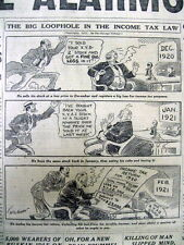 <1921 newspaper IRS TAX LOOPHOLE allows Wall Street Investors & BANKERS to CHEAT