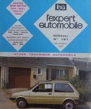 Revue technique AUSTIN MINI METRO 1000 1000 L 1300 S HLE RTA EXPERT 181 1981