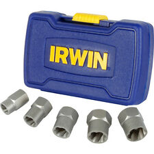 NEW Irwin Bolt Grip Nut Remover Set 5 Piece Each