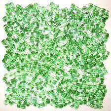 baroque free stone green glass mosaic tiles for bathroom shower floor backsplash