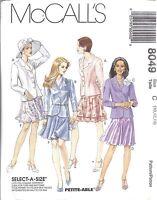8049 UNCUT Vintage McCalls Sewing Pattern Misses Lined Jacket Bias Skirt OOP SEW