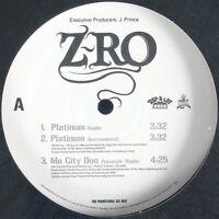 "Z-RO ""PLATINUM / MO CITY DON / FROM THE SOUTH"" 2005 VINYL 12"" PROMO HTF *SEALED*"