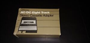 JCPenney AC/DC Eight Track Stereo Cassette Adapter vtg Electronics New Old Stock