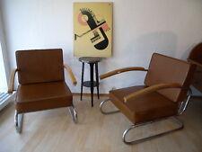 1 Stück ( 1 von 2 ) Streamline Bauhaus Sessel Art Deco Stahlrohr  original 30er