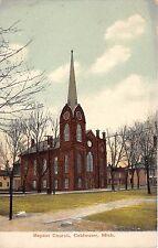 C29/ Coldwater Michigan Mi Postcard c1910 Baptist Church Building