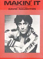 Makin' It - David Naughton - 1979 Sheet Music