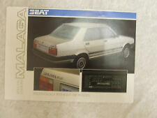 SEAT MALAGA SPECIAL EDITIONS BROCHURE 1.2 & 1.5 LE S 1 PAGES