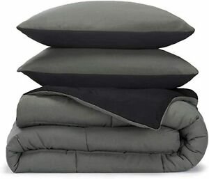 Best Reversible Comforter 1000 TC Egyptian Cotton Eastern King & Solid Color