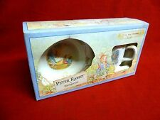 Vintage 1991 WEDGWOOD Peter Rabbit Two Piece Christening Set