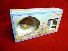 Vintage 1991 Wedgwood Peter Rabbit Two Piece Christening Set