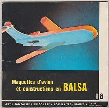 Maquettes d'avion et constructions en balsa Gardet