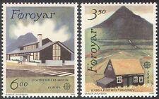 Faroes 1990 Europa/Post Office Buildings/Architecture/Vi ews 2v set (n21104)