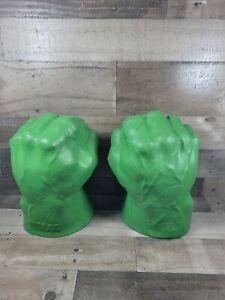 2003 Marvel Incredible Hulk Green Foam Smash N Bash Hands Electronic Sound