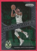 2020-21 Panini Prizm Dominance Giannis Antetokounmpo insert #7 Milwaukee Bucks