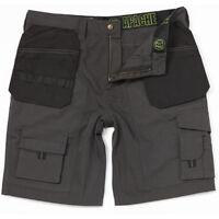 Apache Work Shorts - Mens Grey & Black Holster Trade Shorts 30w to 40w