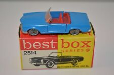 Bestbox Best Box 2514 Mercedes Benz 230 blue near mint in box very scarce colour