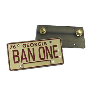 Smokey and the Bandit License Plate Pin BAN ONE Georgia