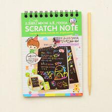 Kawaii Drawing DIY Scratch Notebook Magic Books School Supplies For Kids