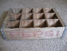PEPSI, 12 Bottle Wood Slotted Case / Crate