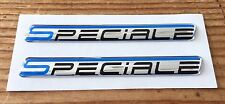 2 X Pegatina/Calcomanía Azul Flash Speciale-acabado de alto brillo abovedado Gel