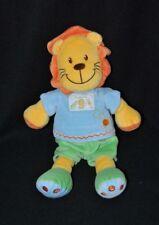 Peluche doudou lion jaune orange vert KIABI NICOTOY Ma ptite tribu 26 cm TTBE