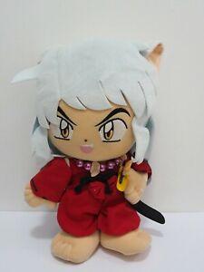 """Inuyasha Banpresto DX 2001 Large Plush 14"""" USED Stuffed Toy Doll Japan"""