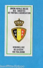 BELGIO-FOOTBALL 76-PANINI-Figurina n.3- UNION BELGE - SCUDETTO/ECUSSON -Rec