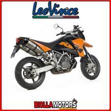 marmitte leovince ktm 950 sm supermoto 2005-2007 lv one evo inox/carbonio 8414e