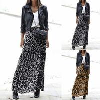 Mode Femme Jupes Loose Personnalité Imprimé léopard Taille elastique Plissé Plus