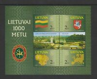 Lithuania - 2001, Lithuanian Millenary, 1st series sheet - M/M - SG MS762