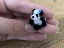 Tiny Cute Handmade Baby Panda Cub 2cm Sitting Dollhouse Miniature Collectors