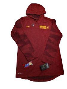NWT Nike USC Trojans Mens Dri-Fit College Logo Hooded Long Sleeve Shirt Sz XXL