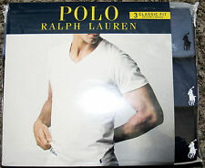 Polo Ralph Lauren pack of 3 classic fit cotton v-neck tee shirts NWT XL blue