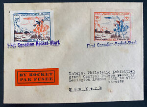 1936 Canada First Rocket Mail Flight Cover to New York Usa