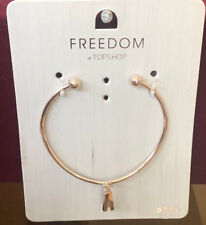 TOPSHOP Freedom New Gold Metal Bracelet Wristband Jewellery RRP £7