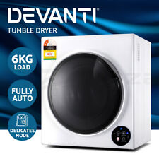 Devanti 6kg Tumble Dryer Fully Auto Wall Mount Kit Clothes Machine Vented White