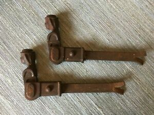 "Pair Vintage French ""Bergere"" Shutter stops. Cast iron."