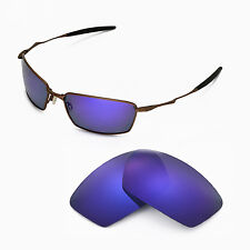 New WL Polarized Purple Replacement Lenses For Oakley Square Whisker Sunglasses