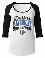 Dallas Mavericks Shirt Maternity Women NBA Basketball 3/4 Sleeve Scoop Pregnancy