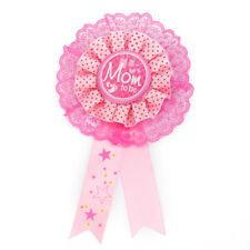Mom To Be Award Ribbon Rosette Pin Badge Baby Shower Favors Party Decoration
