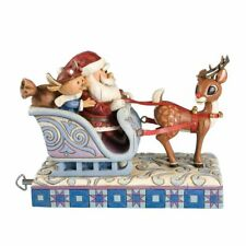 Jim Shore Rudolph Traditions 2008 Rudolph Deluxe Musical Figurine Mint In Box
