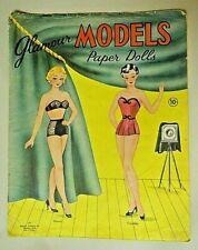 "Vintage 1940s Original UNCUT ""Glamour Models"" Paper Dolls Unused #177"